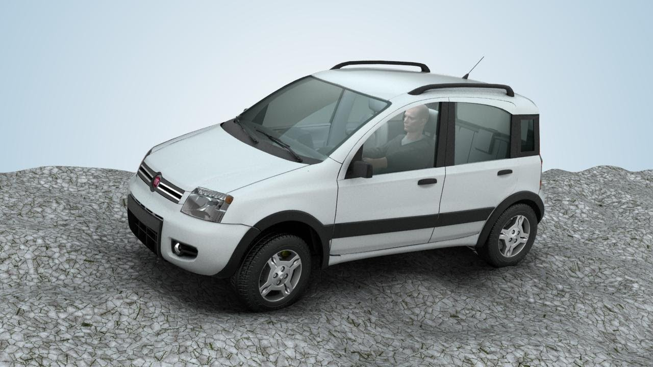hybrid car fiat panda e4wd prototype youtube. Black Bedroom Furniture Sets. Home Design Ideas