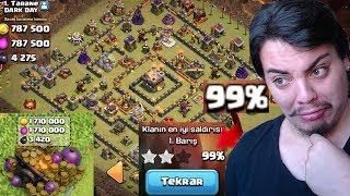 MAX HAZİNELERİ TOPLAYIP KLAN SAVAŞI YAPTIM (%99) Clash of Clans