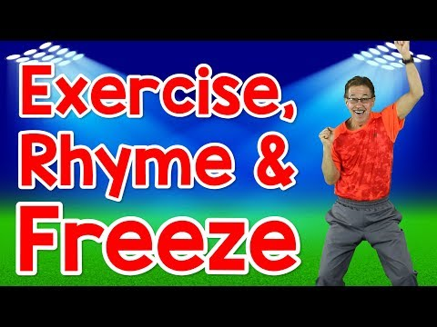 Exercise, Rhyme and Freeze | Rhyming Words for Kids | Exercise Song | Jack Hartmann