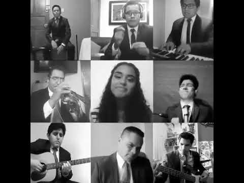 Песня создана группой творческих людей с помощью видео-конференц-связи