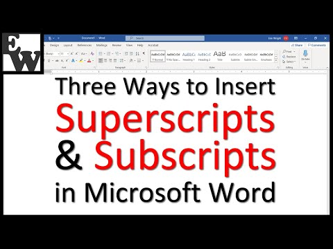 Three Ways to Insert Superscripts and Subscripts in Microsoft Word