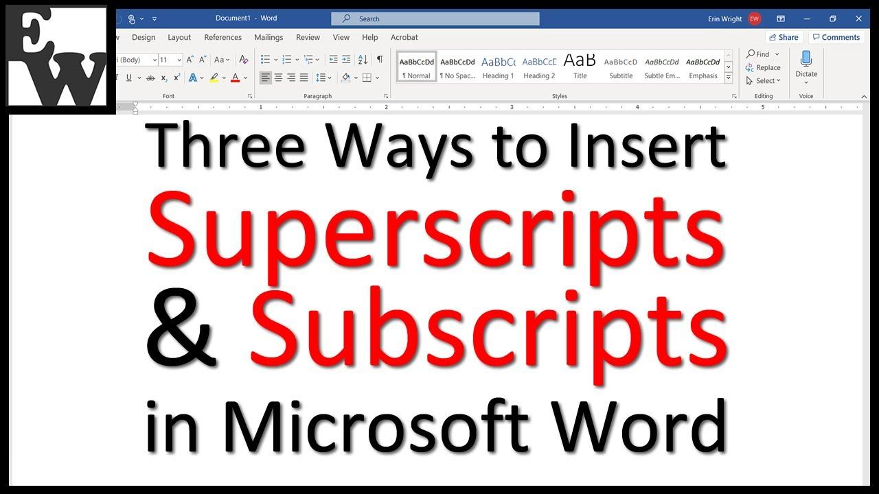 1 superscript word