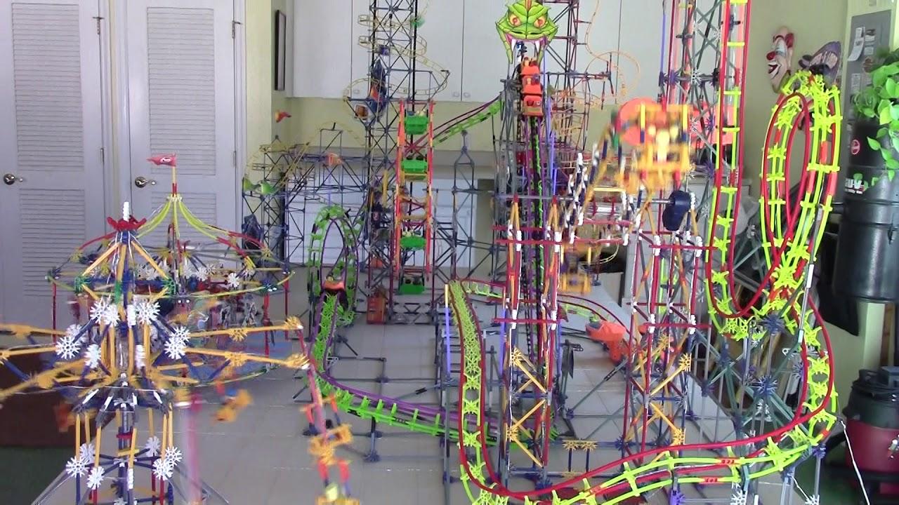 An Entire Amusment Park Build from K'Nex Toys