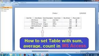 Ms Access   ResultSheet / MarkSheet Tutorial In Urdu/Hindi - Простые