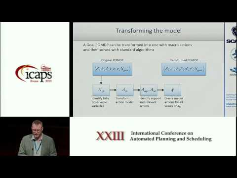 ICAPS 2013: Håkan Warnquist - Exploiting Fully Observable and Deterministic Structures in Goal POMD
