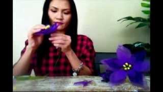 How To Make Nylon Stocking Poinsettia Flowers (Flowers for Christmas)  - Isabella Art Shop