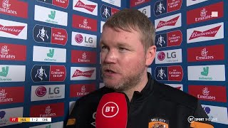 Hull boss Grant McCann reflects on FA Cup exit to Chelsea