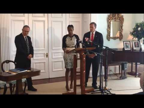Nandi Outerbridge Sworn In As Minister, Feb 23 2017