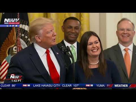 BREAKING: President Trump Wishes Sarah Sanders A Farewell at White House
