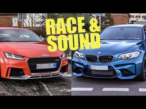 BMW M2 vs. Audi TT RS - RACE & SOUND (60FPS)