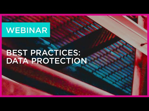 Best Practices Data Protection webinar