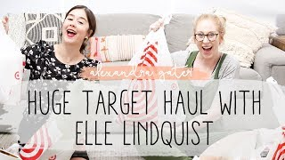 HUGE  HOME DECOR TARGET HAUL WITH ELLE LINDQUIST