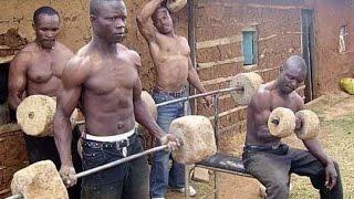 Как  тренируются негры в Африке?