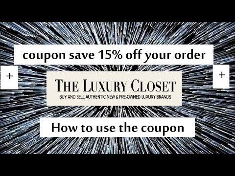 The Luxury closet coupon code save 15%  off your order