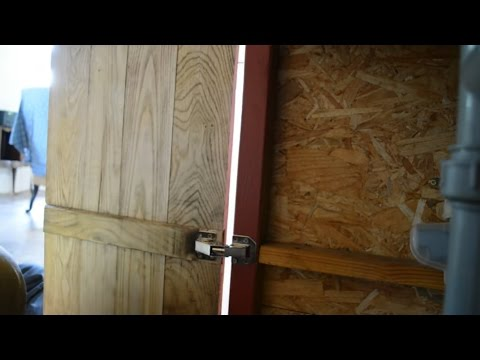 faire main: porte de cuisine en bois de récupération sans vis ni colle partie 4