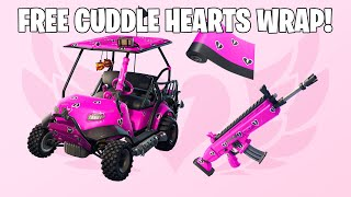 How to Get New FREE CUDDLE HEARTS WRAP Fortnite Battle Royale