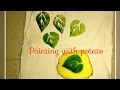 Very Easy Fabric Painting With Potato Block | Vegetable painting