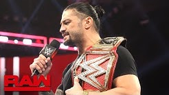 Roman Reigns relinquishes the Universal Title to battle his returning leukemia: Raw, Oct. 22, 2018
