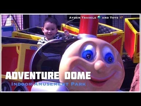 FUN Kids Indoor Amusement Park Playground | Adventure Dome Las Vegas | Rollercoasters Arcade Games