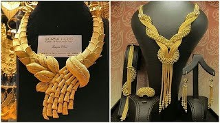 Dubai Gold Souk Bridal Jewellery Designs  Dubai Gold Necklace Designs Part 2  Jewel Fashion