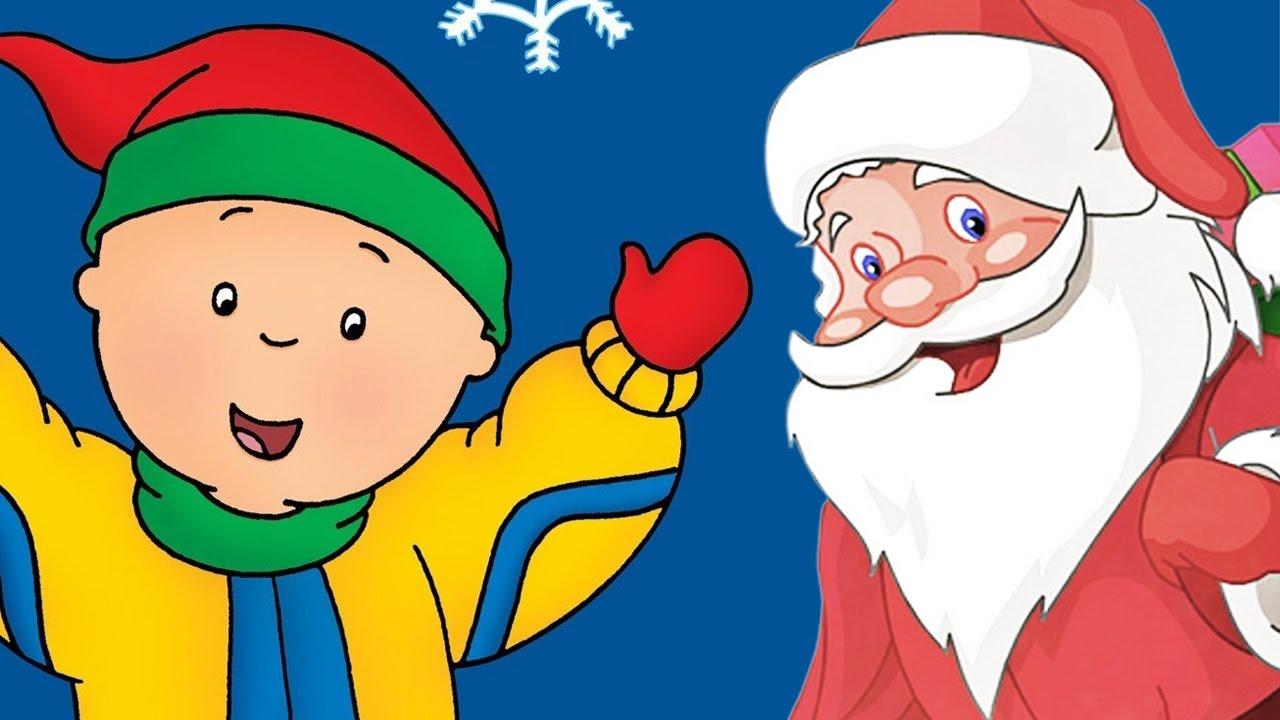 caillou caillou meets santa christmas cartoons for