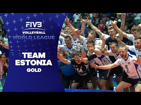 Estonia's match point for the gold - World League 2017
