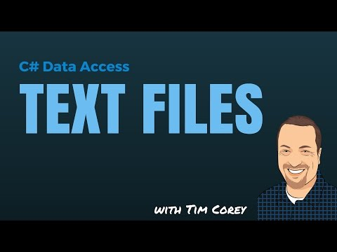 C# Data Access: Text Files