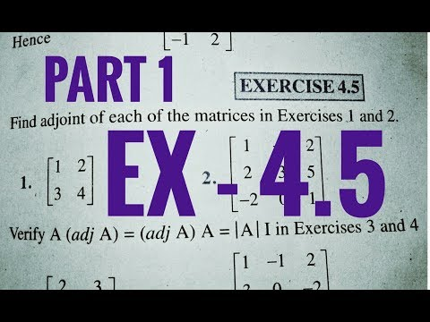 12 Th (NCERT) Mathematics-Determinants | EXERCISE-4.5 ALL Question (Solution)|Pathshala (Hindi)