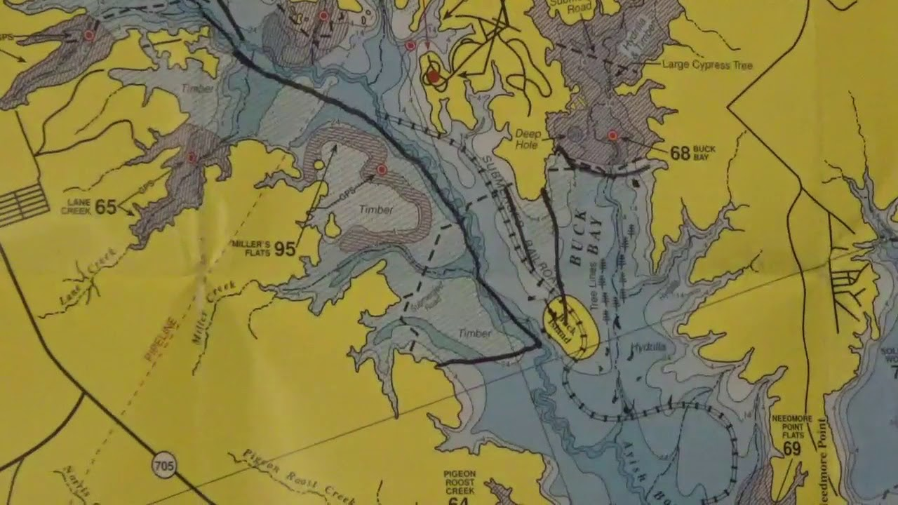 map of sam rayburn lake Sam Rayburn Bass Fishing Navigational Guide Fishing Tips Video 2 map of sam rayburn lake