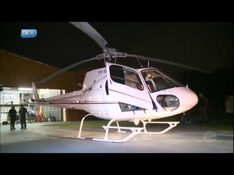 Polícia apreende helicóptero de facção criminosa