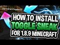 How To Get Toggle Sneak/Sprint For Minecraft 1.8.9