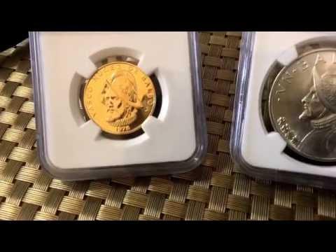 Platastacker presents the 1975 & 1976 Gold   & Silver Panamanian Balboa....$ Real Money $