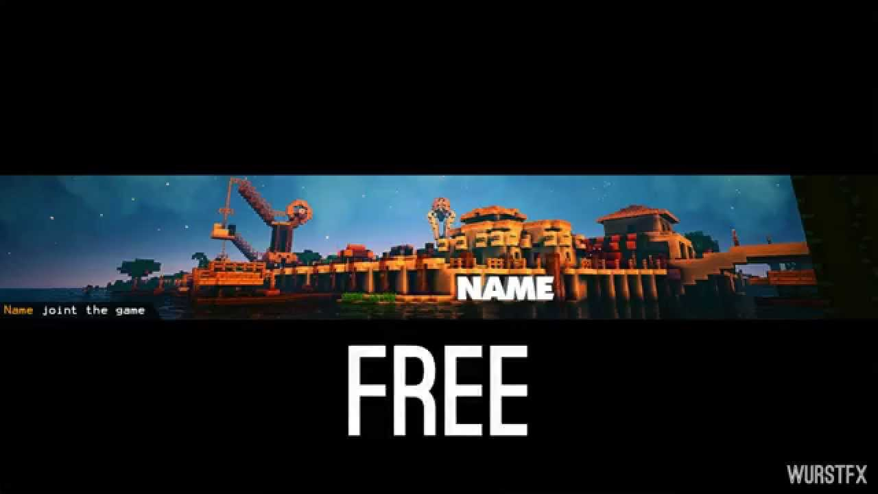 Free Youtube Banner Template Minecraft No Plugins Required