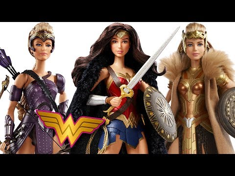 Wonder Woman Movie Barbie Black Label Collectors Dolls Review Hyppolyta, Antiope and Diana