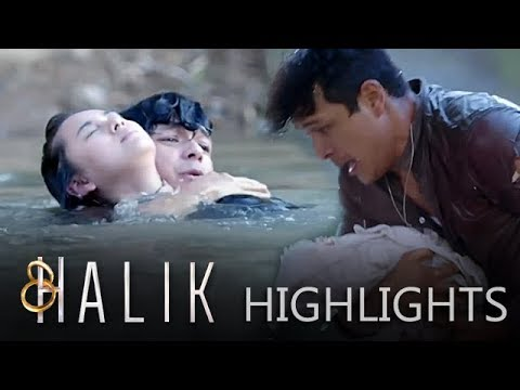 Lino saves Baby CJ and Jacky from drowning | Halik (With Eng Subs)