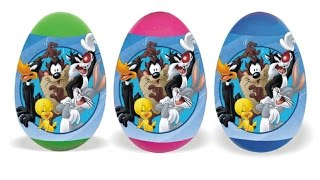 surprise eggs looney tunes characters bugs bunny daffy duck tweety eggs surprise