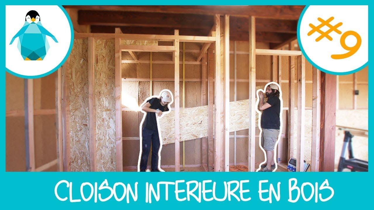 cloison int rieure en ossature bois lpmdp s2 9 youtube. Black Bedroom Furniture Sets. Home Design Ideas