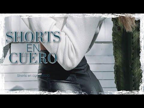 SHORTS de MODA 2020 En CUERO/ OUTFITS de SHORTS En CUERO 2020/ Tendencias 2020/ Moda 2020