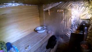 Простейшая баня за 4 тыс рублей(Простейшая бюджетная баня с парилкой. Реально функционирует уже два года. Минимальный расход дров. Снято..., 2013-03-19T18:44:32.000Z)