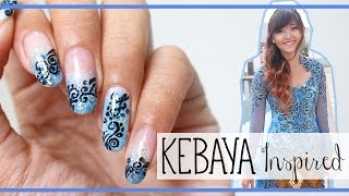 Filigree Nails | KEBAYA Inspired - My Graduation Nail Art #NationalBatikDay