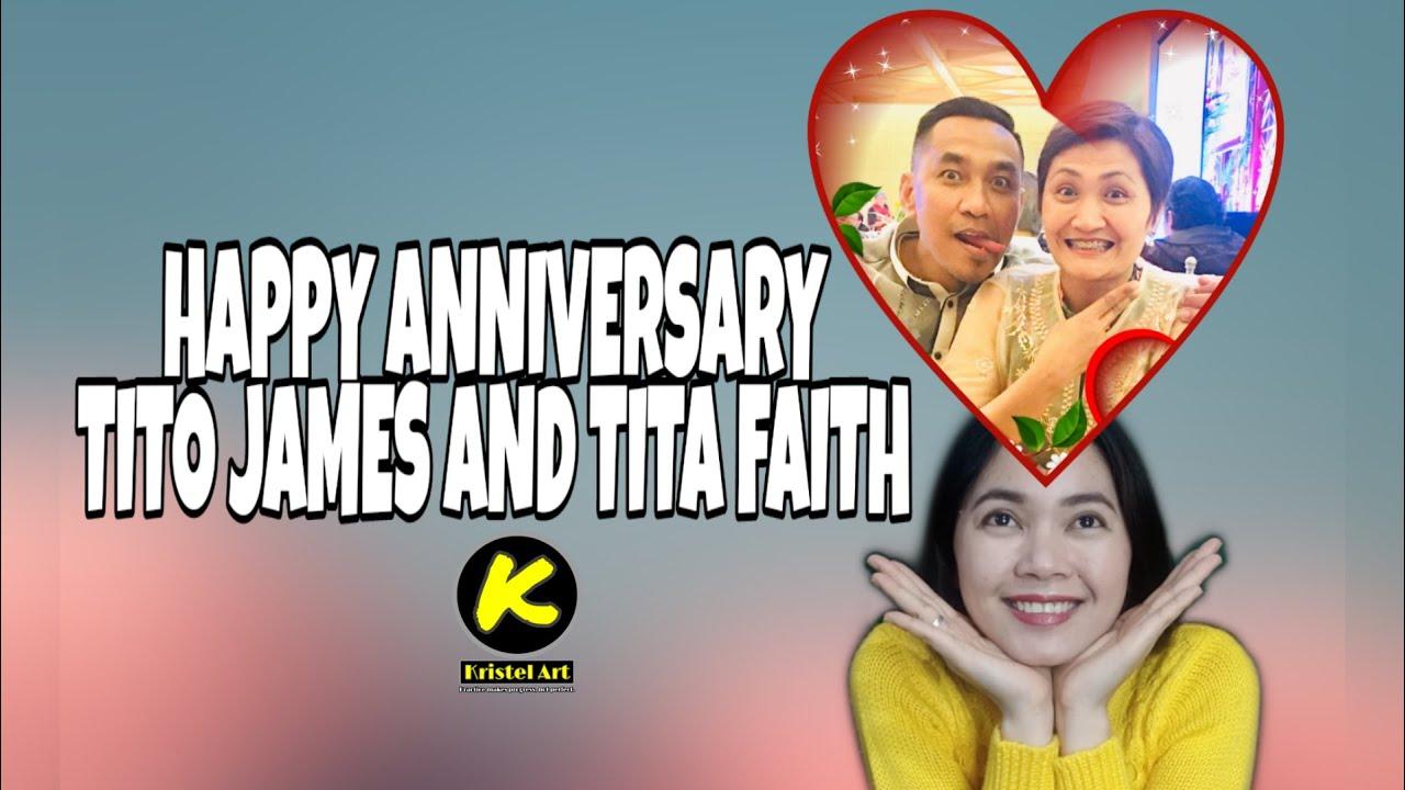 HAPPY 18TH WEDDING ANNIVERSARY TITO JAMES AND TITA FAITH
