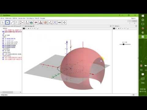Tạo bài giảng Hình học không gian (Vẽ hình trụ khi quay một mặt phẳng)