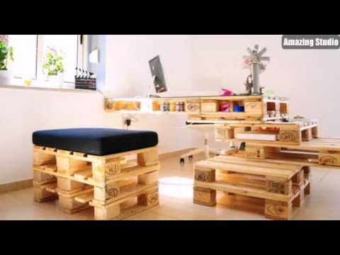 recycling basteln m bel aus paletten selber machen youtube. Black Bedroom Furniture Sets. Home Design Ideas