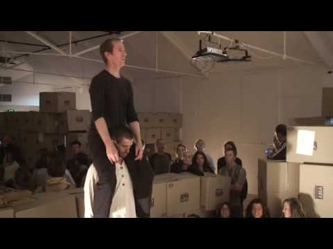 a little snippet from the little con monster show - contact improvisation