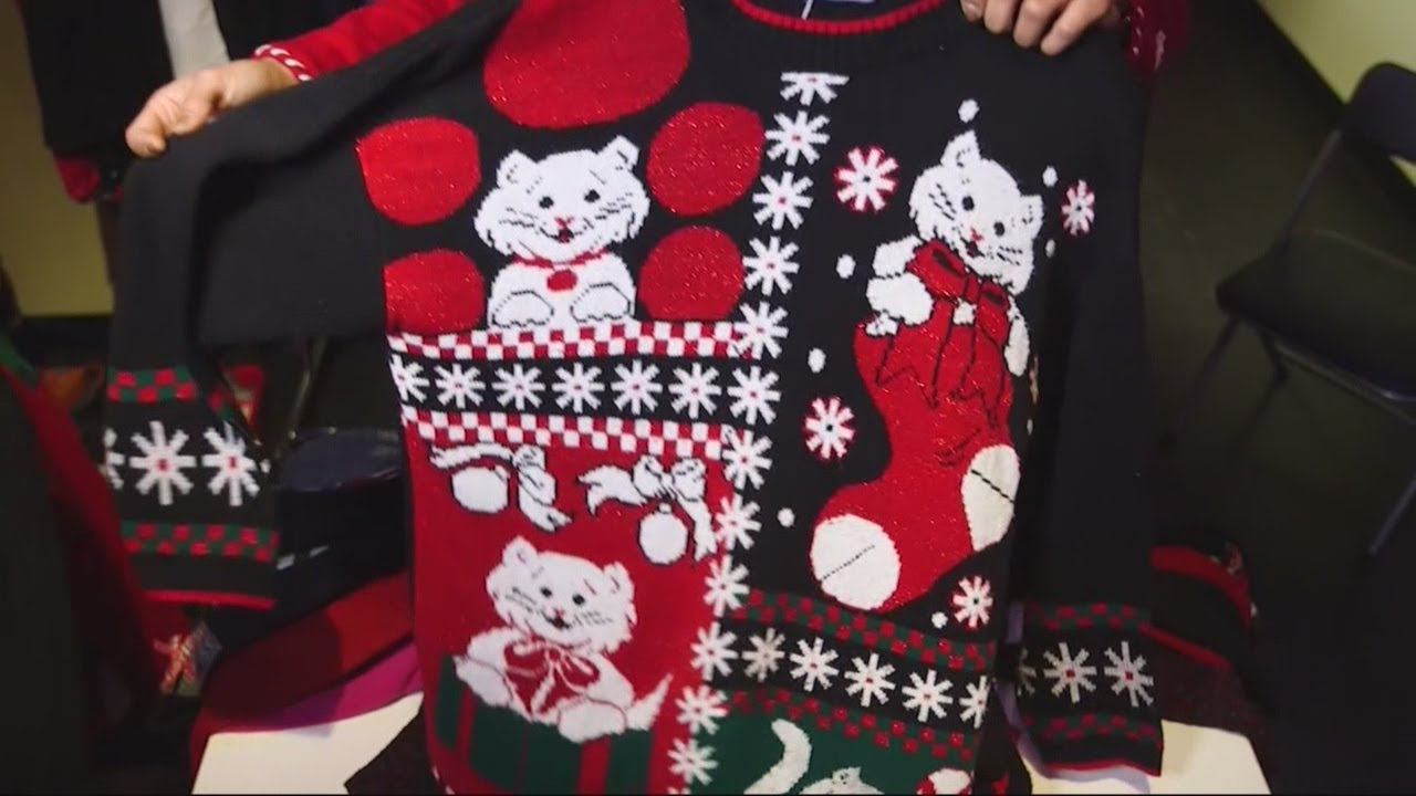 Ugly Christmas Sweater Day - YouTube