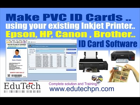 Epson , Canon ID Card Software India CardMaster PVC ID Software Epson L805,  Zebra, Magicard Printers
