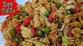 Egg Pasta Recipe in Bengali - ডম দয সপইস পসত রনন - Home Made Spicy Egg Vegetable Pasta