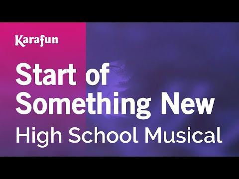 Karaoke Start of Something New - High School Musical *