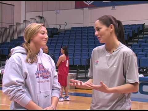 USA Basketball At American - Sue Bird With AU's Ashley Yencho