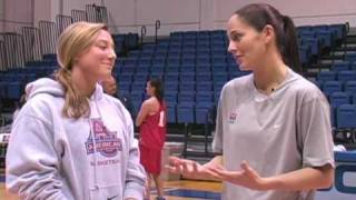USA Basketball at American - Sue Bird with AU
